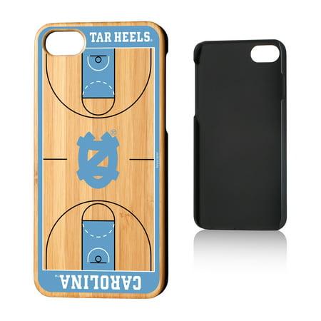 UNC North Carolina Tar Heels Basketball Court Bamboo Case for iPhone 8 / -