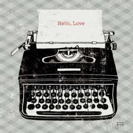 Posterazzi Vintage Analog Typewriter Canvas Art - Michael Mullan (24 x 24)