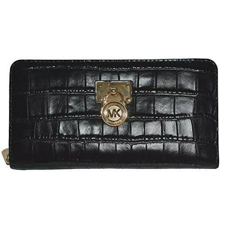 f75b7fc056c59 Michael Kors Hamilton Traveler LG Zip Around Wallet Leather Handbag Purse  Image 1 of 2