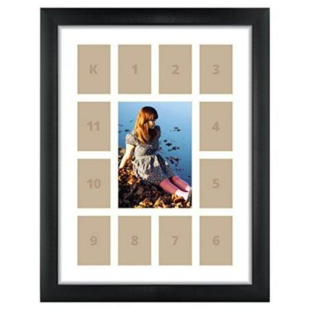 Craig Frames 1wb3bk 12 By 16 Inch Black Picture Frame Single White