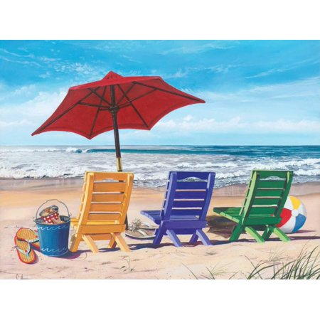Beachy Keen Beach Chairs Ocean Coastal Landscape Art Print Wall Art By Scott Westmoreland Beacon Outdoor Large Wall Lantern