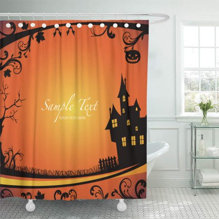 PKNMT Party Halloween Costume Scary Autumn October Monster Moon Abstract Bathroom Shower Curtains 60x72 - Name A Scary Halloween Monster