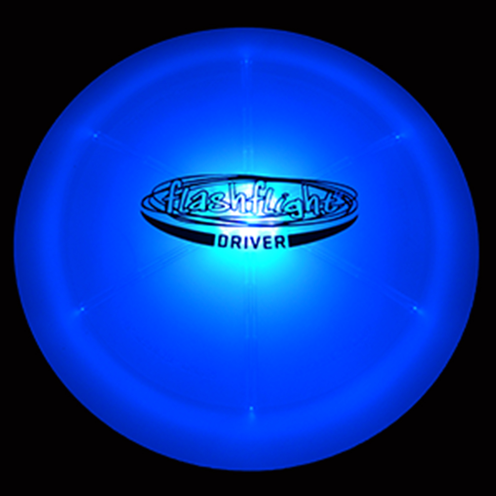 GlowCity Night Play Glow In The Dark LED Flying Disc Golf Frisbee Driver by GlowCity