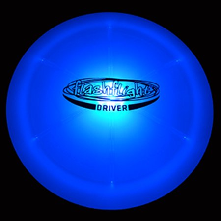 GlowCity Night Play Glow In The Dark LED Flying Disc For Disc Golf - Driver