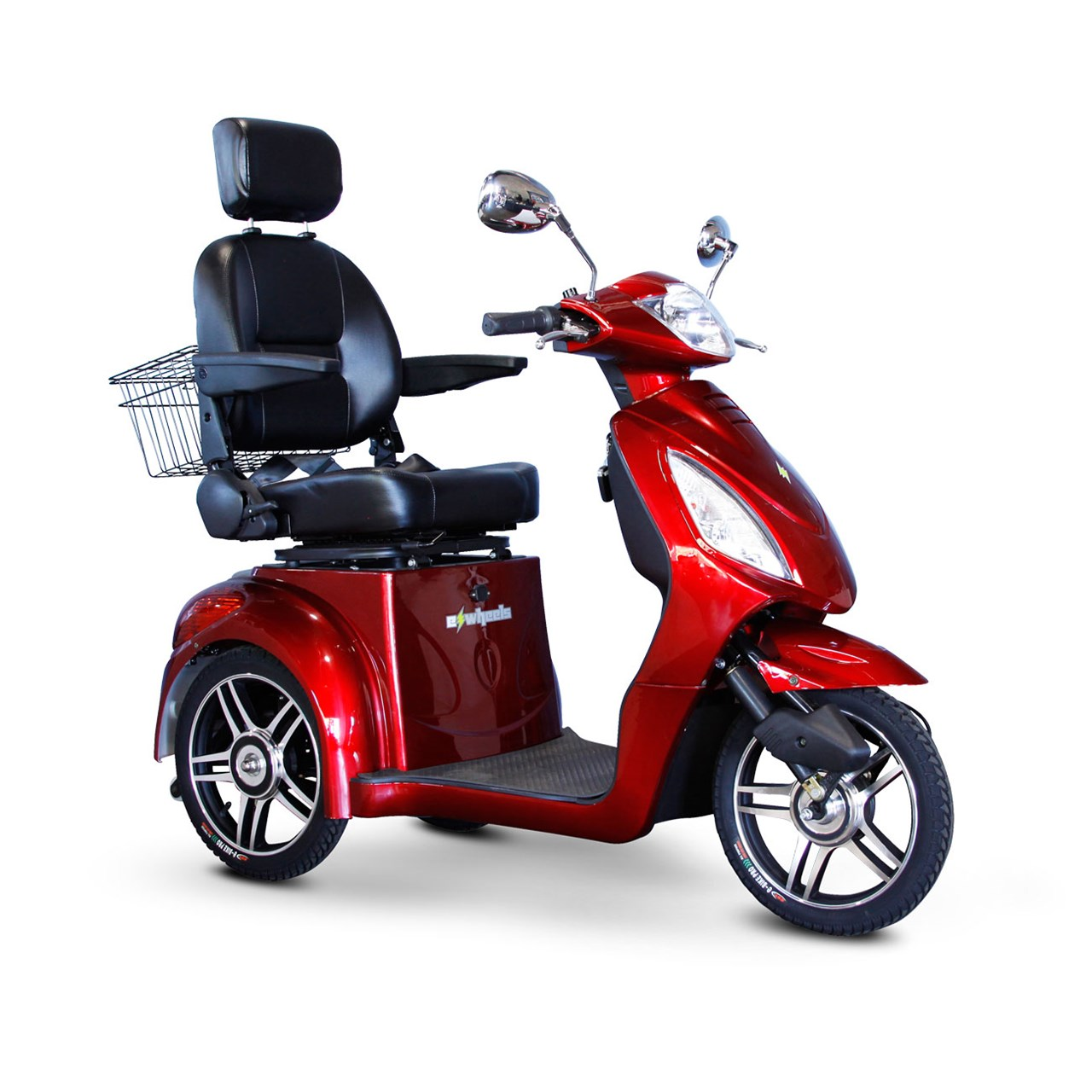 E-Wheels EW-36 3-Wheel Electric Senior Mobility Scooter Red by Electric Wheels LLC