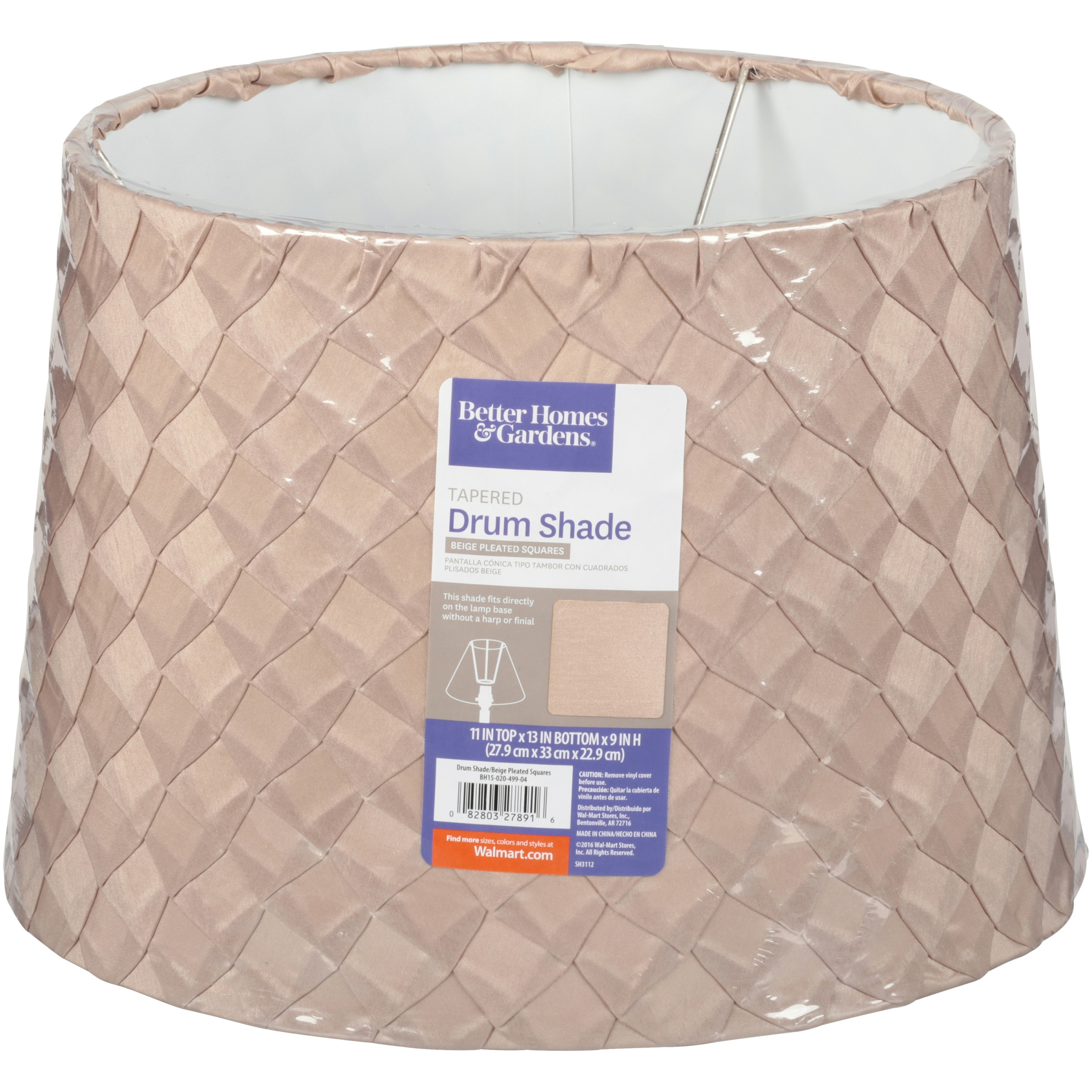 Better homes gardensxc2xae beige pleated squares tapered drum better homes gardensxc2xae beige pleated squares tapered drum shade walmart aloadofball Gallery