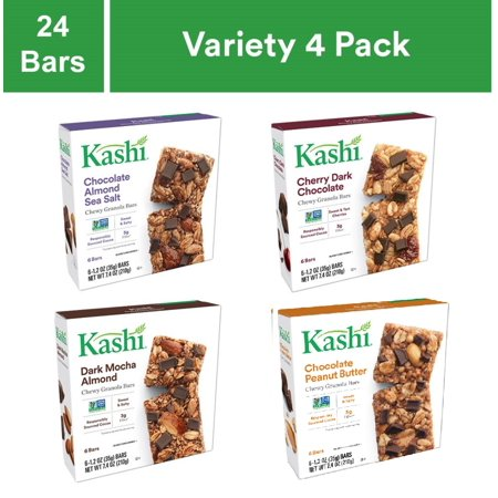 Kashi Chewy Snack Bars Chocolate Variety Pack 4 Packs 24 Ct