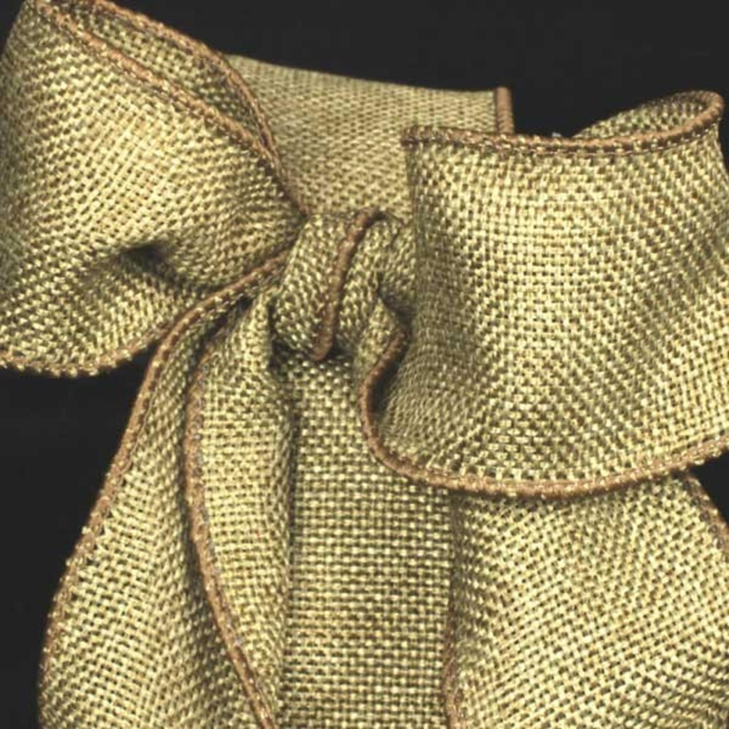 "Sage Green Wired Fine Burlap Craft Ribbon 2"" x 40 Yards"