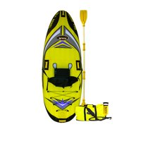 RAVE Sports 1 person Sea Rebel Lightweight Inflatable Kayak with Pump, Yellow
