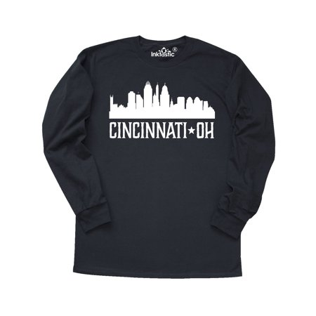 Cincinnati Ohio Skyline City Silhouette Long Sleeve T-Shirt