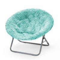 Urban Shop Mongolian Faux Fur Oversized Moon Chair