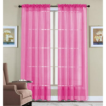 Home Elegance 3 Piece - WPM 2 Piece Beautiful Sheer Window Elegance Curtains/drape/panels/treatment 60