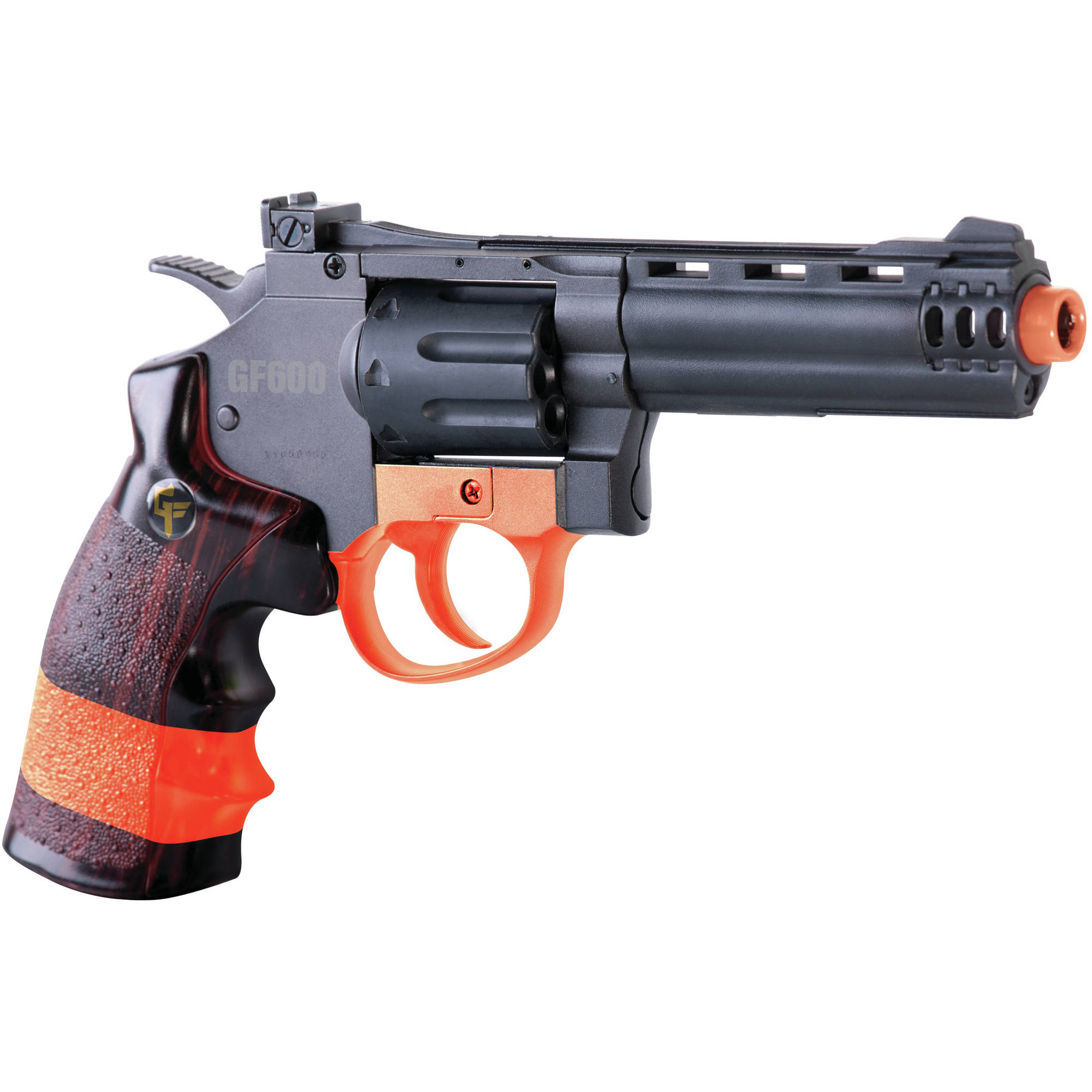 Crosman Game Face Revolver GF600 Airsoft Pistol, California Compliant by