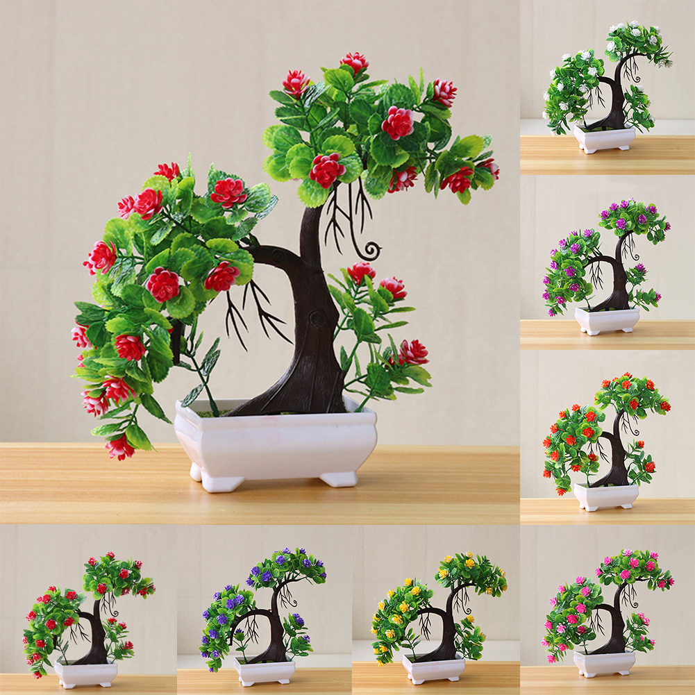 Heepo 1Pc Artificial Tree Branch Fake Plant Flower Home Decor Photography Props