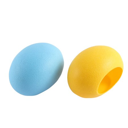 2 Pcs Plastic Egg Nest Shaped Washable Portable Hamster House Yellow Blue - image 2 de 2
