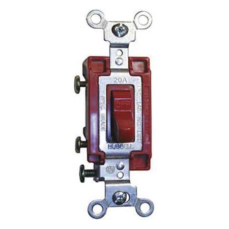 Wall Switch 4 Way 120 277V 20A Red Toggl HUBBELL WIRING DEVICE KELLEMS