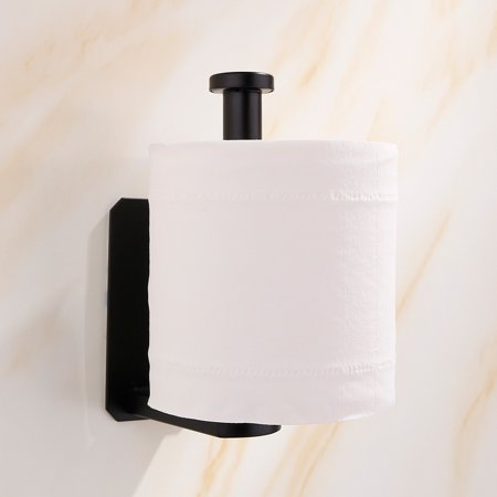 Homeholiday Stainless Steel Toilet Paper Roll Holder Home Hotel Bathroom Wall Mounted Paper Towel Tissue Stand Rack - image 3 of 7
