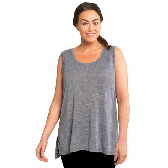 e99967a38f6 RBX - RBX Active Women s Plus Size 2-fer Back Striped Tank Top ...