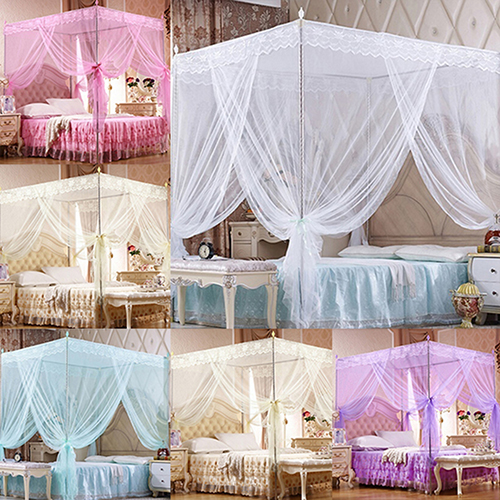 Micelec Romantic Princess Lace Canopy Mosquito Net No Frame for Twin Full Queen King Bed