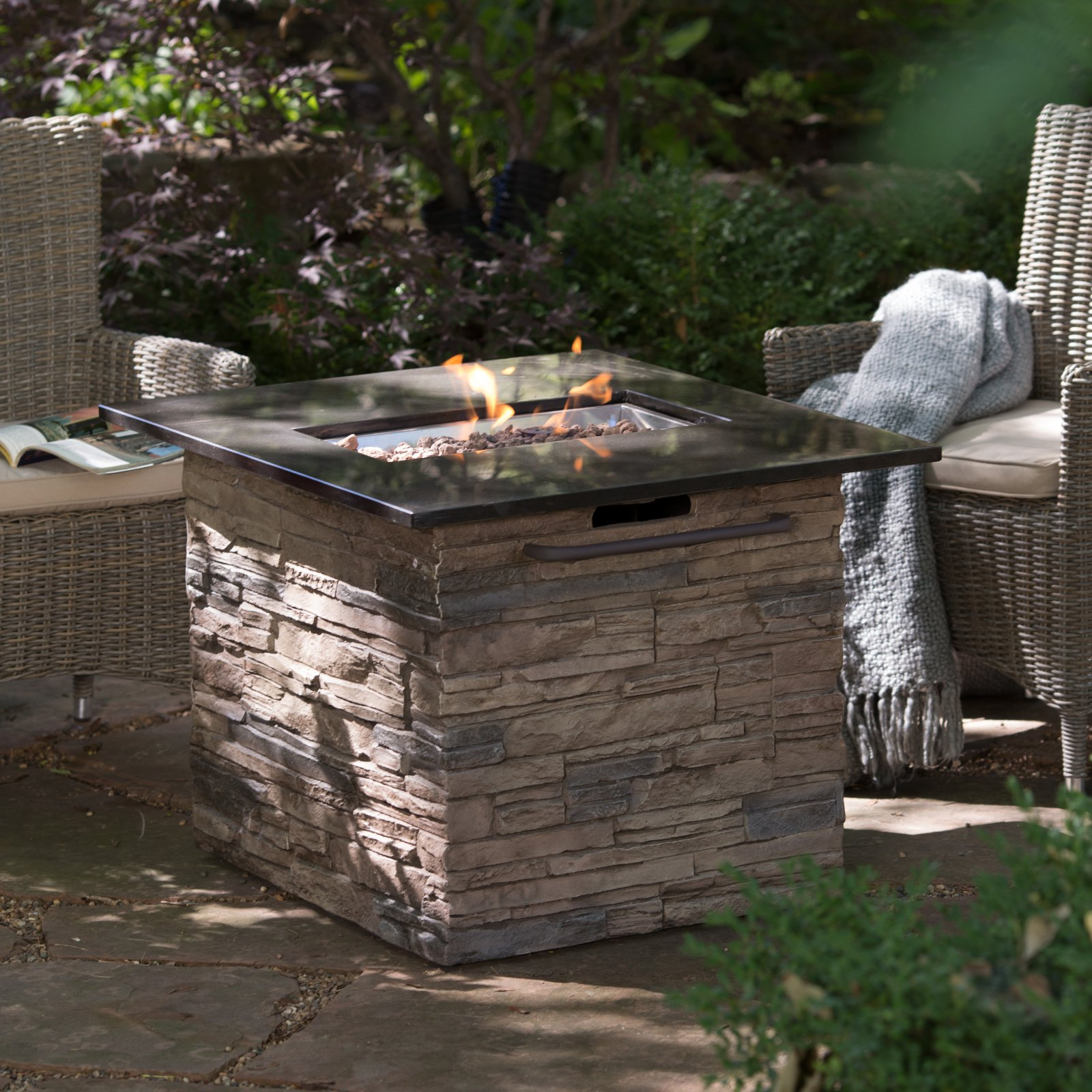 Bond Manufacturing Red Ember Coronado Gas Fire Pit Table ...
