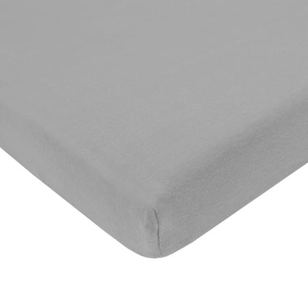 American Baby Company 100% Natural Cotton Value Jersey Knit Fitted Bassinet Sheet, Grey, Soft Breathable, Boys and Girls