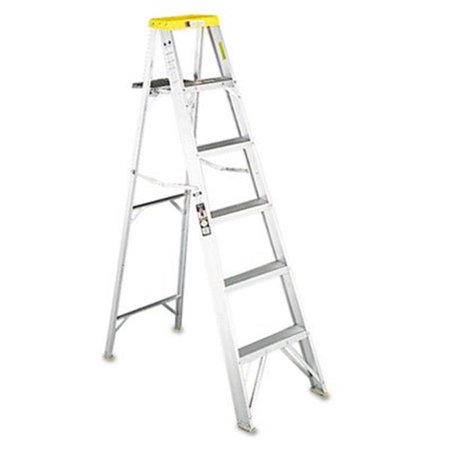 - No. 428 Eight-Foot Folding Aluminum Step Ladder  Green