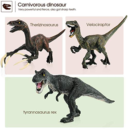 Geyiie Dinosaur Figures Toys,9 to2.3 Realistic Educational Dinosaur Figures Pack of 30 Animal Dinosaur Figures for Boys and Girls Great Gift Set Birthday Present