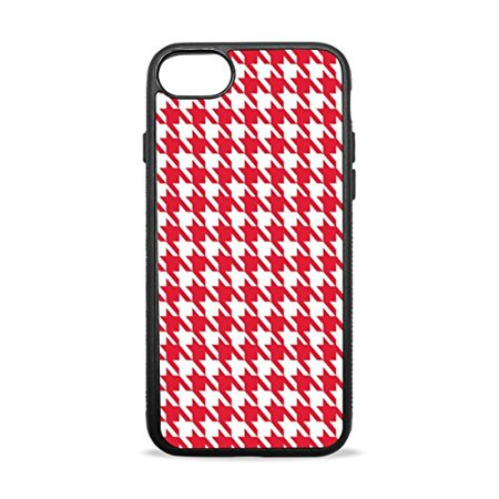 Ganma Houndstooth pattern Rubber Case For iPhone 8 (4.7 inch)