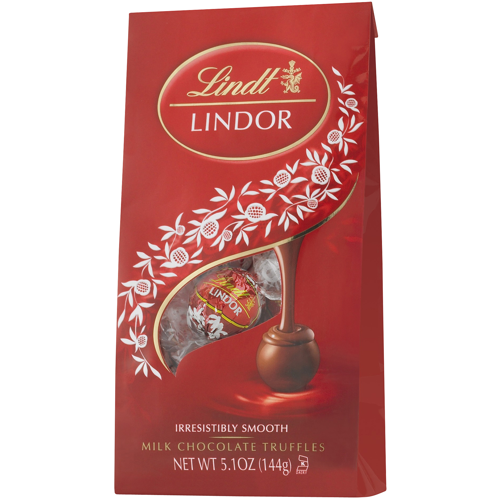Lindt Milk Chocolate Lindor Truffles With A Smooth Filling, 5.1 oz