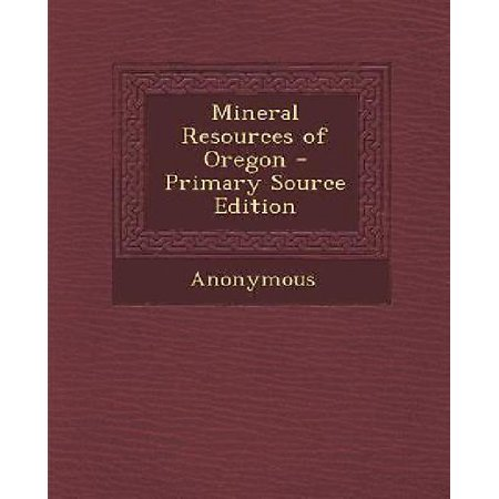 Mineral Resources Of Oregon