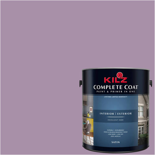 KILZ COMPLETE COAT Interior/Exterior Paint & Primer in One #RA140-01 Berry Bloom