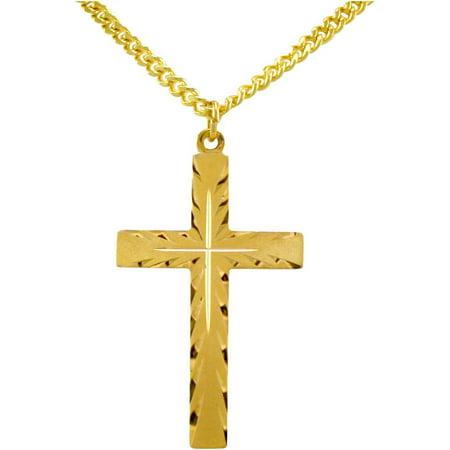 Gold-Filled Cross Pendant, 24
