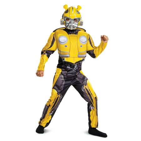 Obscene Halloween Costumes (Transformers Bumblebee Movie Bumblebee Classic Muscle Child Halloween)