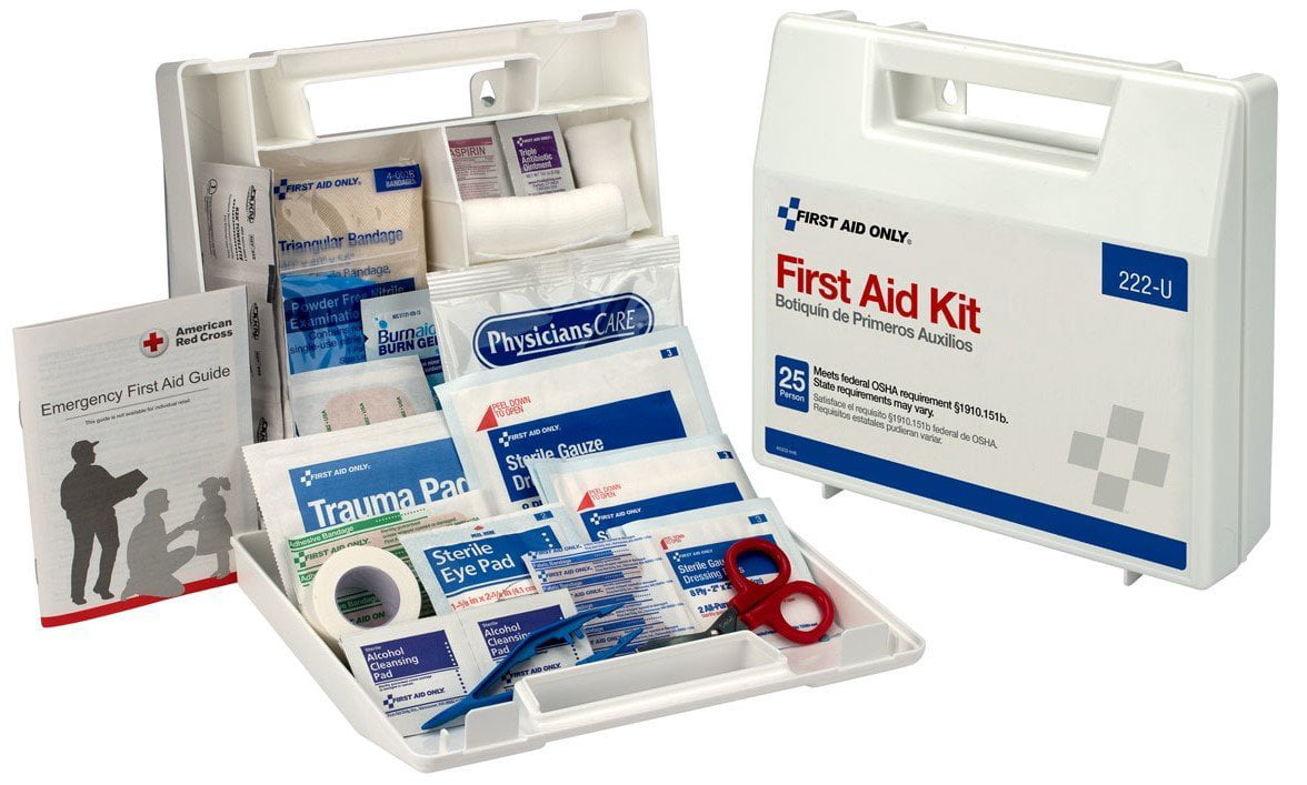 First Aid Only 10 Person First Aid Kit, OSHA Compliant, Plastic Case, 62 Pc by ACME UNITED CORPORATION