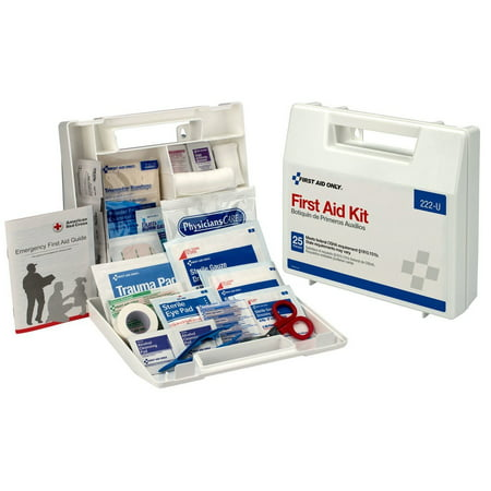 First Aid Only 10 Person First Aid Kit, OSHA Compliant, Plastic Case