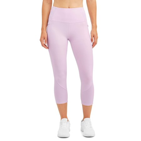 Babylegs Ribbed - Women's Active Ribbed Capri Leggings with Side Pocket