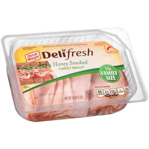 Oscar Mayer Deli Fresh Honey Smoked Turkey Breast, 16 oz
