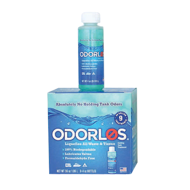Valterra V77001 Odorlos Holding Tank Treatment - 4 oz. Bottles, Pack of 9