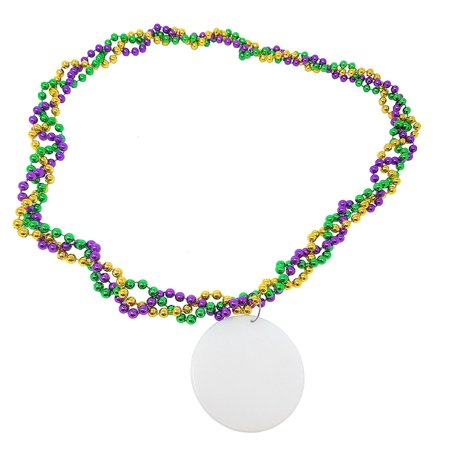 Mardi Gras Party Pendant Necklace Supplies - 20