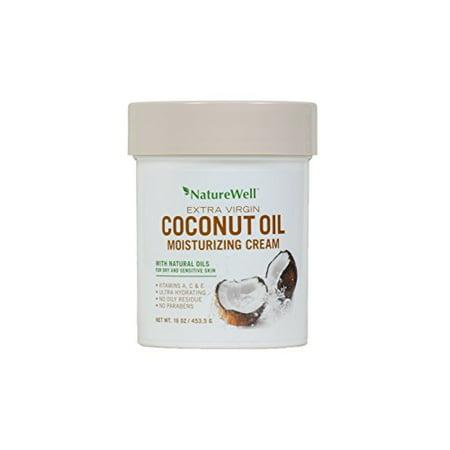 Naturewell Extra Virgin Coconut Oil Moisturizing Cream, 16