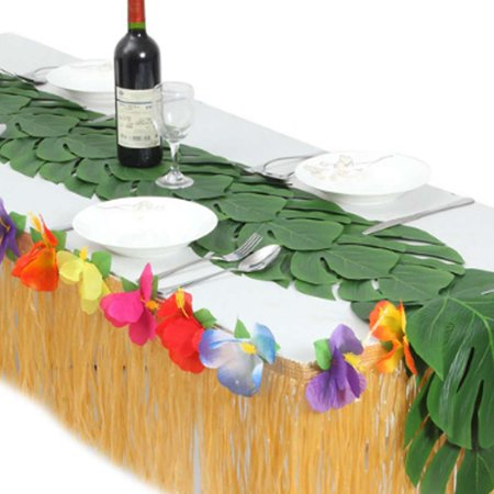 Electronicheart 12/24/48pcs Artificial Tropical Palm Monstera Leaves Simulation Leaf for Hawaiian Luau Beach Theme Party Jungle Decoration - image 6 of 6