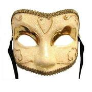 Golden Lady Eye Venetian, Masquerade, Mardi Gras Mask