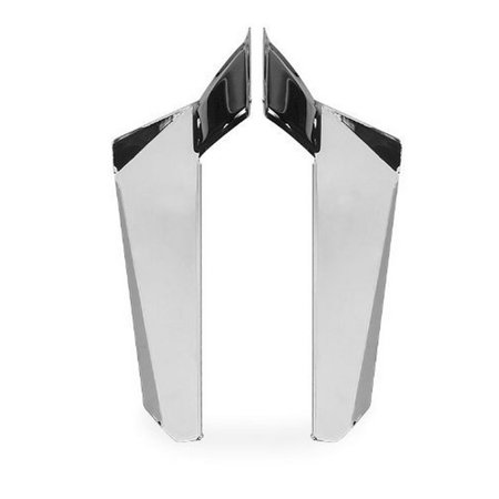 National Cycle N76607 Switchblade Chrome Lower Deflectors for Honda -