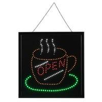 WALFRONT Bright Flashing LED OPEN Sign Light Cafe Shop Bar Store Restaurant Display 48*48cm, Shop LED Sign, Bar Sign Light
