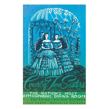Court of the Two Sisters, New Orleans, Louisiana Print Wall (The Court Of Three Sisters New Orleans)