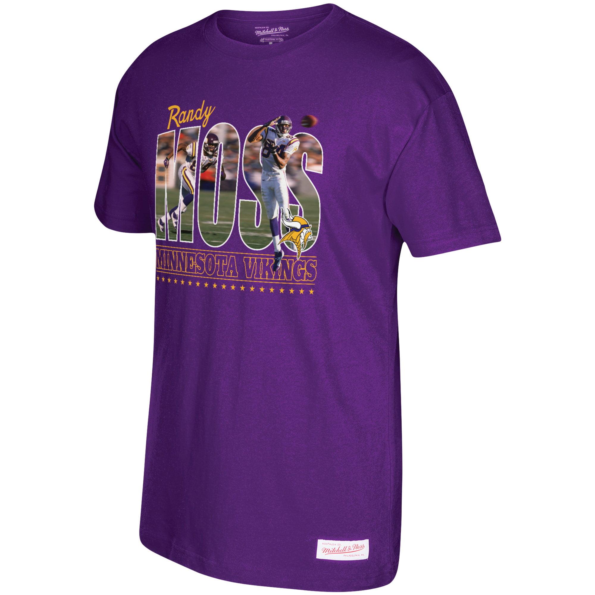 Randy Moss Minnesota Vikings Mitchell & Ness Photo Real T-Shirt - Purple