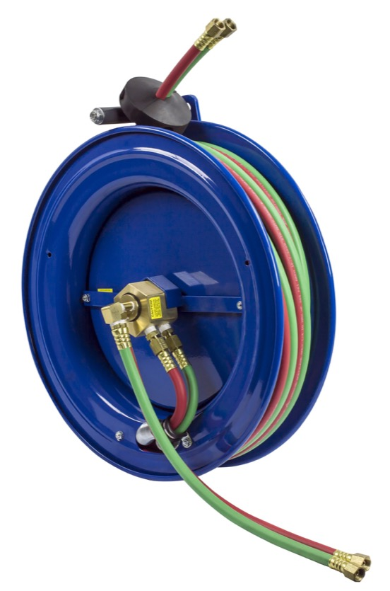 COXREELS SR17W-150 Side Mount Spring Driven Welding Hose Reel 1 4in oxy-acet by Coxreels