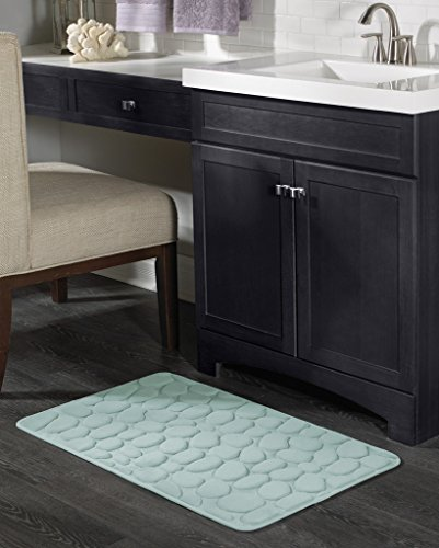 Pebble Memory foam 17x24 inch bath mat Jade