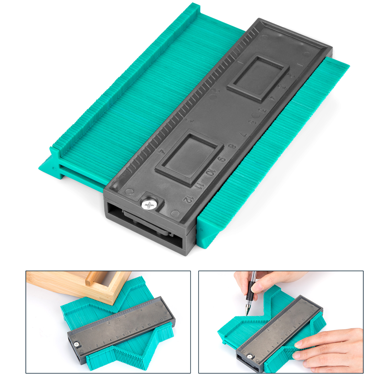 Contour Gauge Duplicator Laminate Solid Wood and Vinyl Flooring etc. Circular Frame Profile Gauge Tool for Easy Cutting AGPtEK Irregular and Profile Gauge Duplicator 12CM//5 Inch Perfect for Tile