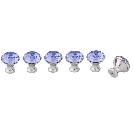 Uxcell Acrylic Faux Diamond Cabinet Bookcase Drawer Pull Handle Knobs Royal Blue